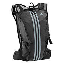 Buy Adidas Run Load 3 Stripe Backpack, Black Online at johnlewis.com