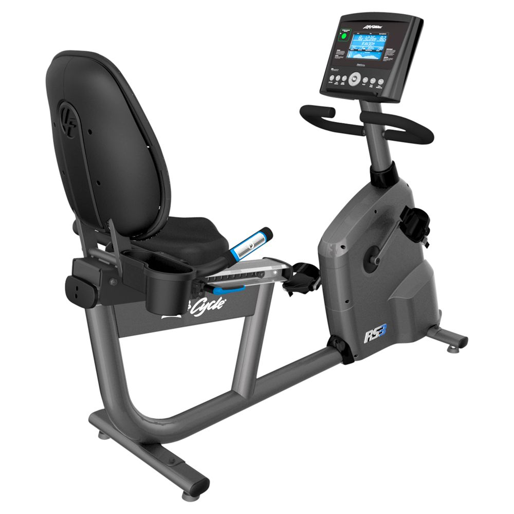 Life Fitness Life Fitness RS3 Lifecycle Recumbent Exercise Bike with Go Console