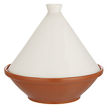 Buy John Lewis White Stoneware Tagine, Medium Online at johnlewis.com