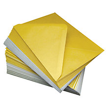 Buy John Lewis Pearlised A6 Card & Envelopes, Pack of 25, Gold/Silver Online at johnlewis.com