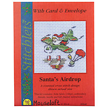 Buy Cross-Stitch 'Santa's Airdrop' Card and Envelope Online at johnlewis.com