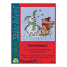 Buy Mouseloft Christmas Snowbunny Cross Stitch with Card and Envelope Online at johnlewis.com