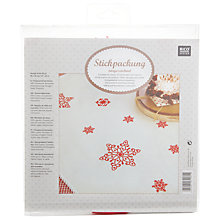 Buy Rico Christmas Red Star Tablecloth Embroidery Kit Online at johnlewis.com