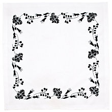 Buy Rico Black Flowers Table Cloth Embroidery Kit Online at johnlewis.com