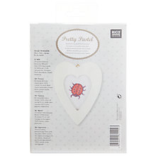 Buy Rico Ladybird Heart Picture Embroidery Kit Online at johnlewis.com