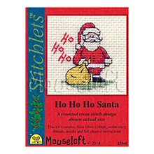 Buy 'Ho Ho Ho' Santa Cross Stitch Card & Envelope Kit Online at johnlewis.com