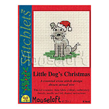 Buy Mouseloft Little Dog's Christmas Cross Stitch with Card and Envelope Online at johnlewis.com