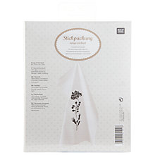 Buy Rico Black Flowers Tea Towel Embroidery Kit Online at johnlewis.com