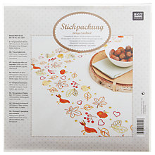 Buy Rico Autumn Impressions Table Cloth Embroidery Kit Online at johnlewis.com