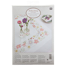 Buy Rico Flower Border Embroidery Kit, Multi Online at johnlewis.com