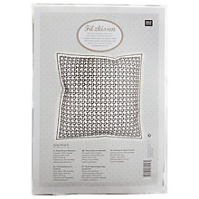 Buy Rico Embroidery Cushion Kit, Pack of 2, Black/White Online at johnlewis.com