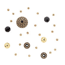 Buy Rico Mixed Pack of Beads, Black/Gold Online at johnlewis.com