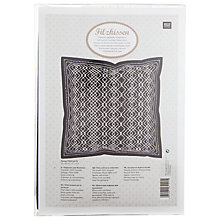 Buy Rico Double Running Stitch Cushion Kit, Black/White Online at johnlewis.com