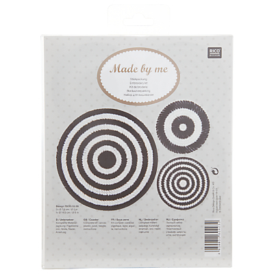 Rico Round Coaster Kit, Pack of 3, Black/White