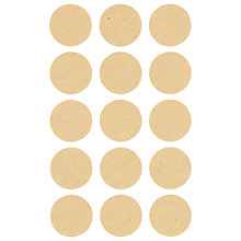 Buy Rico Round Stickers, Pack of 4, Natural Online at johnlewis.com