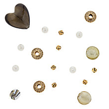 Buy Rico Mixed Pack of Beads, Gold/Cream Online at johnlewis.com