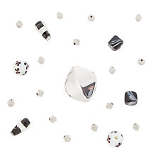Buy Rico Mixed Pack of Beads, Black/White Online at johnlewis.com