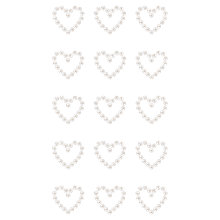 Buy Rico Pearl Heart Stickers, Pack of 15 Online at johnlewis.com