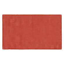 Buy House by John Lewis Plain Rug, Flame, 300x200cm Online at johnlewis.com