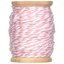 Buy Rico Cotton Twine, 15m, Rose/White Online at johnlewis.com