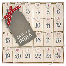 Buy East of India Advent Peg Set Online at johnlewis.com