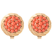 Buy Susan Caplan Vintage 1960s Trifri Faux Coral Earring, Gold / Coral Online at johnlewis.com