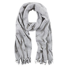 Buy Mint Velvet Lurex Star Print Scarf, Silver Grey Online at johnlewis.com