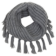 Buy Mint Velvet Tassel Snood Scarf, Silver Grey Online at johnlewis.com