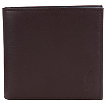 Buy Polo Ralph Lauren Pebble Leather Wallet, Brown Online at johnlewis.com