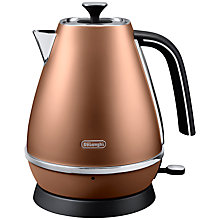 Buy De'Longhi Distinta Jug Kettle and 4-Slice Toaster, Copper Online at johnlewis.com