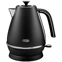 Buy De'Longhi Distinta Jug Kettle and 4-Slice Toaster, Black Online at johnlewis.com