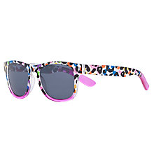 Buy John Lewis Girl Animal Print Wayfarer Sunglasses, Pink/Multi Online at johnlewis.com