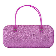 Buy John Lewis Girl Glitter Sunglasses Case, Pink Online at johnlewis.com