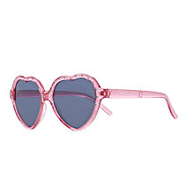 Buy John Lewis Girl Heart Shaped Glitter Sunglasses, Pink Online at johnlewis.com