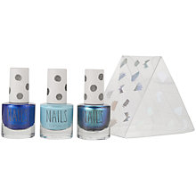 Buy TOPSHOP Mini Blue Nail Trio Gift Set Online at johnlewis.com