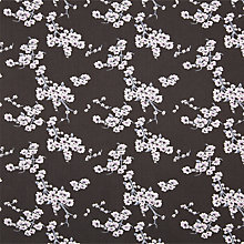 Buy John Lewis Floral Blossom Fabric, Black Online at johnlewis.com