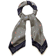 Buy Jaeger Alphabet Scarf, Houndstooth Online at johnlewis.com