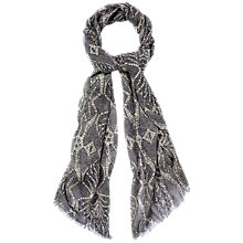 Buy Jaeger Lace Print Scarf, Grey Online at johnlewis.com