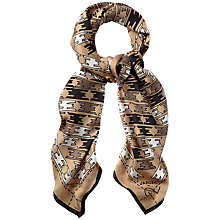 Buy Jaeger Stretched Houndstooth Scarf, Camel Online at johnlewis.com
