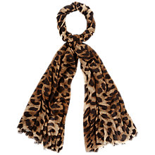 Buy Jaeger Leopard Scarf, Natural Online at johnlewis.com