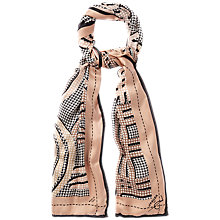 Buy Jaeger Exploded Alphabet Scarf, Black Online at johnlewis.com