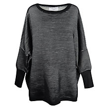 Buy Paisie Ripped Jumper, Black/White Online at johnlewis.com