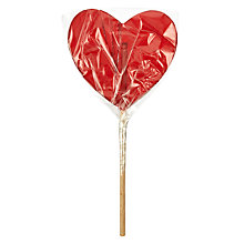 Buy Clear Red Heart Lolly, 80g Online at johnlewis.com