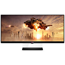 "Buy LG 34UM65-P Super Widescreen 21:9 LED PC Monitor, 34"", Black Online at johnlewis.com"