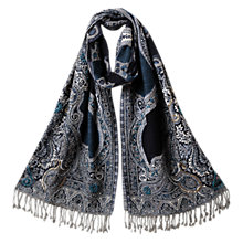 Buy East Maahir Embellished Shawl, Ink Online at johnlewis.com