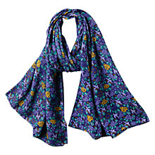 Buy East Ava Print Scarf, Ink Online at johnlewis.com