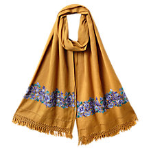 Buy East Nomi Embroidered Scarf, Ochre Online at johnlewis.com