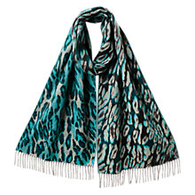 Buy East Lorna Animal Print Scarf, Kingfisher Online at johnlewis.com