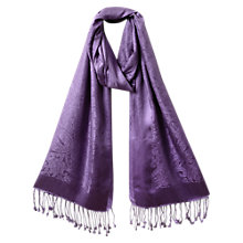 Buy East Silk Jacquard Shawl, Lavender Online at johnlewis.com