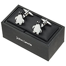 Buy John Lewis Monty & Mabel Penguin Cufflinks, Black/White Online at johnlewis.com